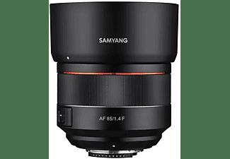 SAMYANG AF 85mm F1,4 F für Nikon F 1:1,4 (Objektiv für Nikon F-Mount, Schwarz)