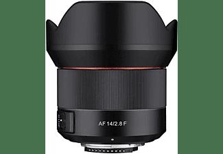 SAMYANG AF 14mm F2,8 F für Nikon F 1:2,8 (Objektiv für Nikon F-Mount, Schwarz)
