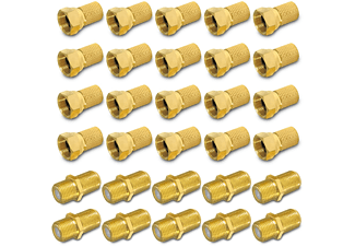 ARLI F-Verbindungsset / 20x F-Stecker 10x F-Verbinder F-Stecker