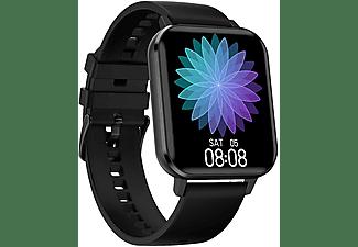 LEVOWATCH DOITX Touchscreen Smartwatch Aluminium Silikon, Schwarz
