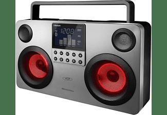 SDIGITAL GB3700D -  Drahtlos Bluetooth Lautsprecher mit USB/AUX/RADIO/SD/- Boombox - Party Lautsprecher Lautsprecher, Grau)