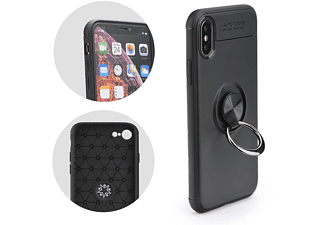 COFI Slim Ring Hülle Silikon Case, Bumper, Samsung, Galaxy S10 Plus, Schwarz
