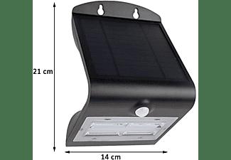 REV LED SOLAR LAMPE Downlight für draußen Wandleuchte Außenleuchte kleiner SPOT mit Bewegungsmelder Solar Außenwandleuchte Neutralweiß