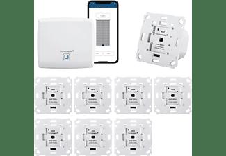 HOMEMATIC IP Funk Rolladensteuerung für 8 Rolläden | Smart Home Set mit App | Alexa kompatibel - Komplettpaket