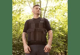 TECTAKE Gewichtsweste mit Reflektorstreifen und herausnehmbaren Gewichten 10 kg schwarz, 402640