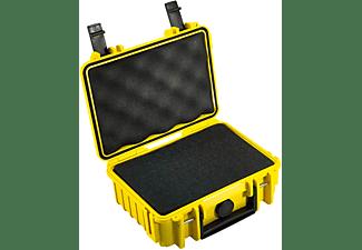 B&W INTERNATIONAL Outdoor Case Typ 500 gelb mit Schaumstoffeinsatz Hartschalenkoffer