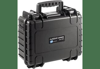 B&W INTERNATIONAL Outdoor Case Typ 3000 schwarz mit anpassbarer Facheinteilung Hartschalenkoffer