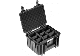 B&W INTERNATIONAL Outdoor Case Typ 2000 schwarz mit anpassbarer Facheinteilung Hartschalenkoffer