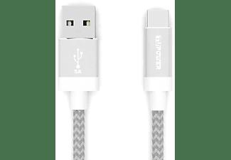 TUPOWER K19 USB-C Huawei Supercharge Ladekabel 1,8m, USB C Kabel, 180 cm, Silber