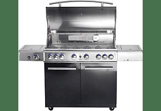 ALLGRILL Top Line Gasgrill Chef XL mit Airsystem, Volledelstahl Grillwagen Gasgrill, Black (31 kW)