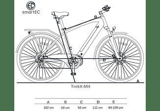SMARTEC TrekX-MH Trekking Pedelec/E-Bike Trekkingrad (Laufradgröße: 28 Zoll, Unisex-Rad, 504 Wh, Blau)
