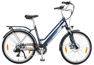 SMARTEC Trek-26D Trekking Pedelec/E-Bike Trekkingrad (Laufradgröße: 26 Zoll, Unisex-Rad, 374 Wh, Blau)