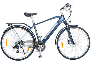 SMARTEC Trek-28H Trekking Pedelec/E-Bike Trekkingrad (Laufradgröße: 28 Zoll, Unisex-Rad, 374 Wh, Blau)