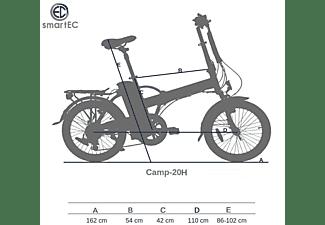 SMARTEC Camp-20H Falt Pedelec/E-Bike Kompakt-/Faltrad (Laufradgröße: 20 Zoll, Unisex-Rad, 468 Wh, schwarz matt)