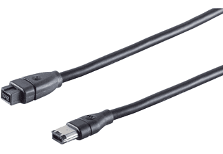 KABELBUDE FireWire-Kabel IEEE 1394B 9pol St/1394A 6pol St 1m FireWire Kabel, schwarz