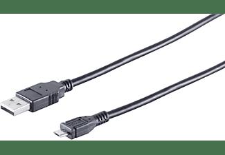 KABELBUDE FAST Lade-Kabel USB-A-St./USB-B MICRO St. 2.0 3m, USB Kabel, 3 m, schwarz