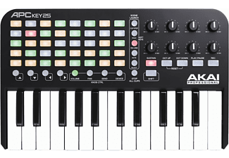 AKAI Professional MIDI Keyboard APC Key 25 MIDI Keyboard, Schwarz