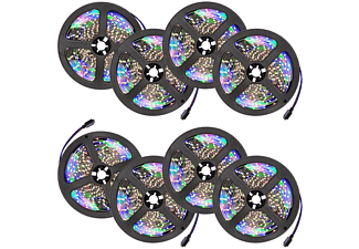 TECTAKE 8 LED-Strips mit 300 LEDs, 5m Länge LEDs
