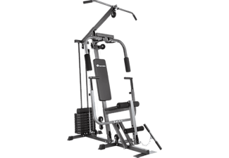 TECTAKE Kraftstation home gym mit Bankdrückmodul schwarz, 402757