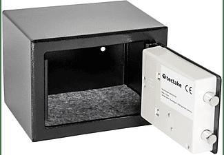 TECTAKE Elektronischer Safe Tresor mit Schlüssel inkl. Batterien Tresore schwarz