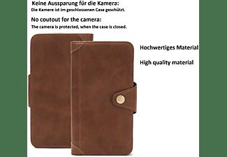 K-S-TRADE Schutzhülle, Bookcover, ZTE, Axon 11 5G, Braun