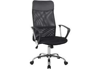 HOMCOM Bürostuhl  Drehstuhl Sitzhöhe 46–54 cm Schwarz Bürostuhl, schwarz