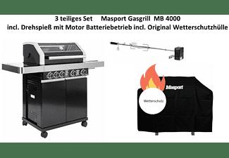 AL-KO Masport Gasgrill MB 4000  3tlg. Set Gasgrill, Black (17 kW)