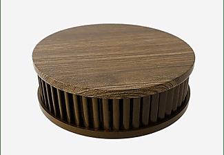 PYREXX  PX-1 Holzoptik Dunkel mit Magnetklebepad Rauchmelder, weiss