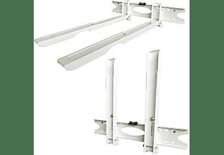 DRALL INSTRUMENTS Ausziehbare Mikrowellen Wandhalterung weiß belastbar bis 20 kg Modell: H75W Wandhalterung weiß