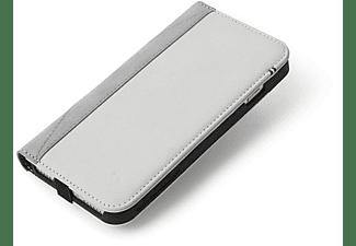 DECODED Leder Wallet Case Schutzhülle, Bookcover, Apple, iPhone SE (2020), iPhone 8, iPhone 7, iPhone 6s, iPhone 6, Weiß/Grau