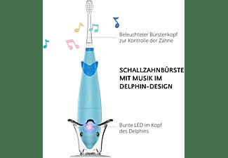 AILORIA BUBBLE BRUSH Kinder-Schallzahnbürste mit Musik und LED blau inkl. 2 Bürstenköpfe Kinder-Schallzahnbürste blau