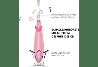 AILORIA BUBBLE BRUSH Kinder-Schallzahnbürste mit Musik und LED rosa inkl. 2 Bürstenköpfe Kinder-Schallzahnbürste rosa