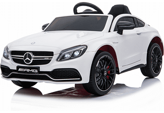 4TRADERS KIDS CARS Kinder Elektroauto Mercedes C63 Elektroauto Weiß