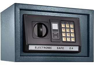 TECTAKE Elektronischer Safe Tresor mit Schlüssel und LED-Anzeige inkl. Batterien Tresore schwarz