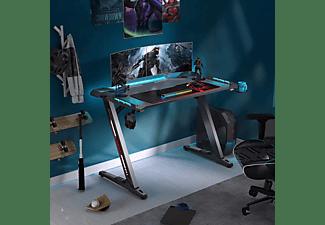 EE EUREKA ERGONOMIC Gaming Schreibtisch mit RGB-LED 100039 Gaming Schreibtisch