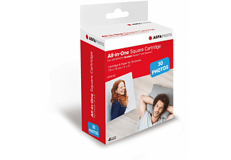 AGFAPHOTO Realipix Fotodruck-Papier 7,6cm x 7,6 cm (30 Blatt), Fotopapier, Weiß