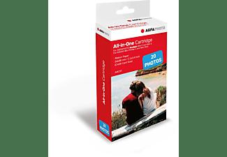AGFAPHOTO Realipix Fotodruck-Papier 5,3cm x 8,6 cm (20 Blatt), Fotopapier, Weiß