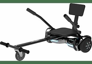 HOVER-1  Hoverboard Superstar Kombo mit Buggy Aufsatz (6,5 Zoll, Grau/ Silber)