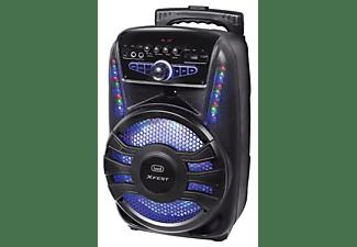 TREVI Karaoke Trolley-Lautsprecherverstärker Karaoke System, Schwarz)
