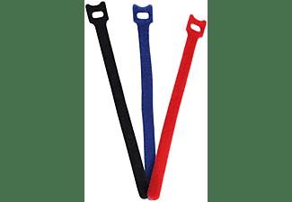 SHIVERPEAKS Kabelbinder 11 x 200mm, Klett-Verschluss 12er Set, Kabelbinder, 200 mm