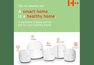 H2 SMART HOME Healthy Set - Gesundes Set mit 5 Sensoren Gesundes Set mit Tür und Fenster Sensoren, Wetterstation, Schimmel, Luftqualität Sensoren