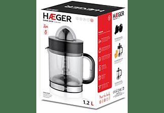 HAEGER Great Juice Zitruspresse 40 Watt, Schwarz