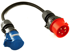 WALLBOX24.DE DER E-PROFI Adapterkabel 1Phasig 16A CEE Adapterkabel für e-Mobil Ladestationen, Multicolor