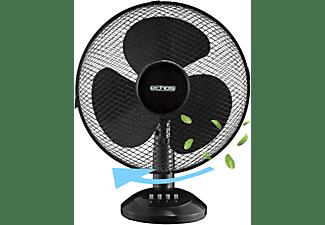ECHOS Eco-104 Tischventilator   Ventilator   Windmaschine   Luftkühler Memphis Black (45 Watt)