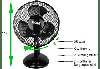 ZILAN ZLN-1211 Tischventilator Ventilator Kleiner Ventilator Memphis Black (25 Watt)
