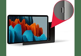 TABLINES TWP Tablethalter mit Ladefunktion für Samsung Tab S7 11.0 Tablet Wandhalterung, schwarz