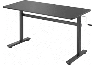 HOKO Höhenverstellbarer Schreibtisch Bürotisch mit Handkurbel