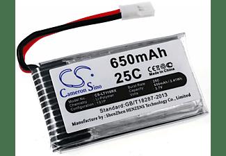 POWERY Akku für Hubsan H107D Mini Li-Polymer Akku, 3.7 Volt, 650mAh
