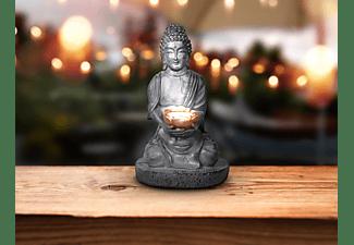 GLOBO LED Solarleuchte 2er Set Buddah Lotus 72234870 Solarleuchte