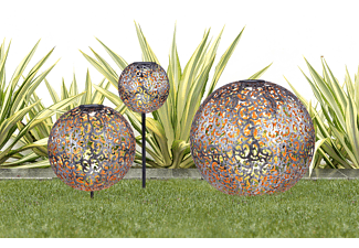 GLOBO LED Solarleuchte 2er Set Metall Kugel 72347319 Solarleuchte